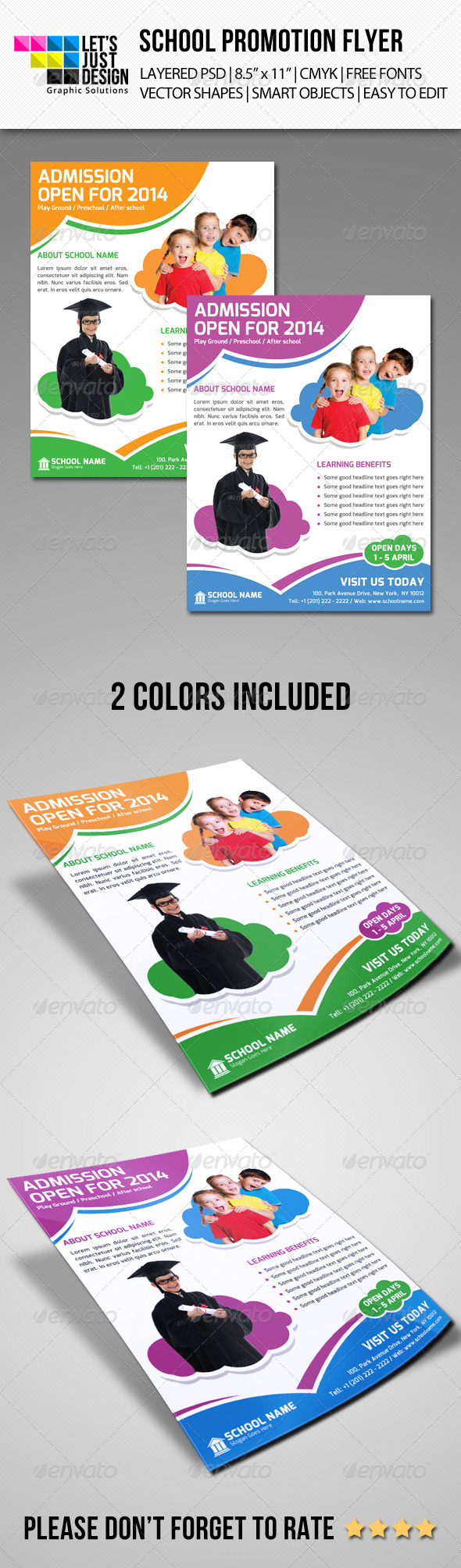GraphicRiver School Promoting Flyer Template 7064081