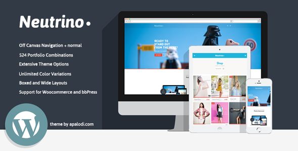 Neutrino is a very powerful, easy to customize, modern, professional and fully responsive retina-ready WordPress theme, developed with great attention to detail