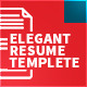 Elegant Resume Templete | 5 Pages - GraphicRiver Item for Sale