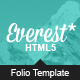 Everest - Responsive Portfolio HTML5 Template - ThemeForest Item for Sale