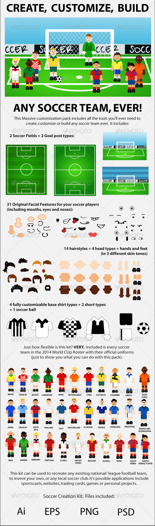 GraphicRiver Soccer Creation Kit 7086935