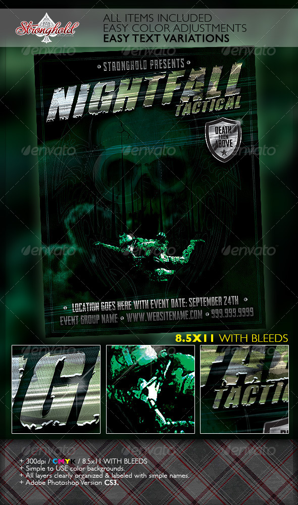 GraphicRiver Halo Military Ops Paratrooper Flyer Template 7062606