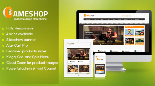 SM GameShop - Responsive Magento theme  - Magento eCommerce