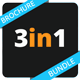 3in1 Multipurpose Business Brochure Bundle - GraphicRiver Item for Sale