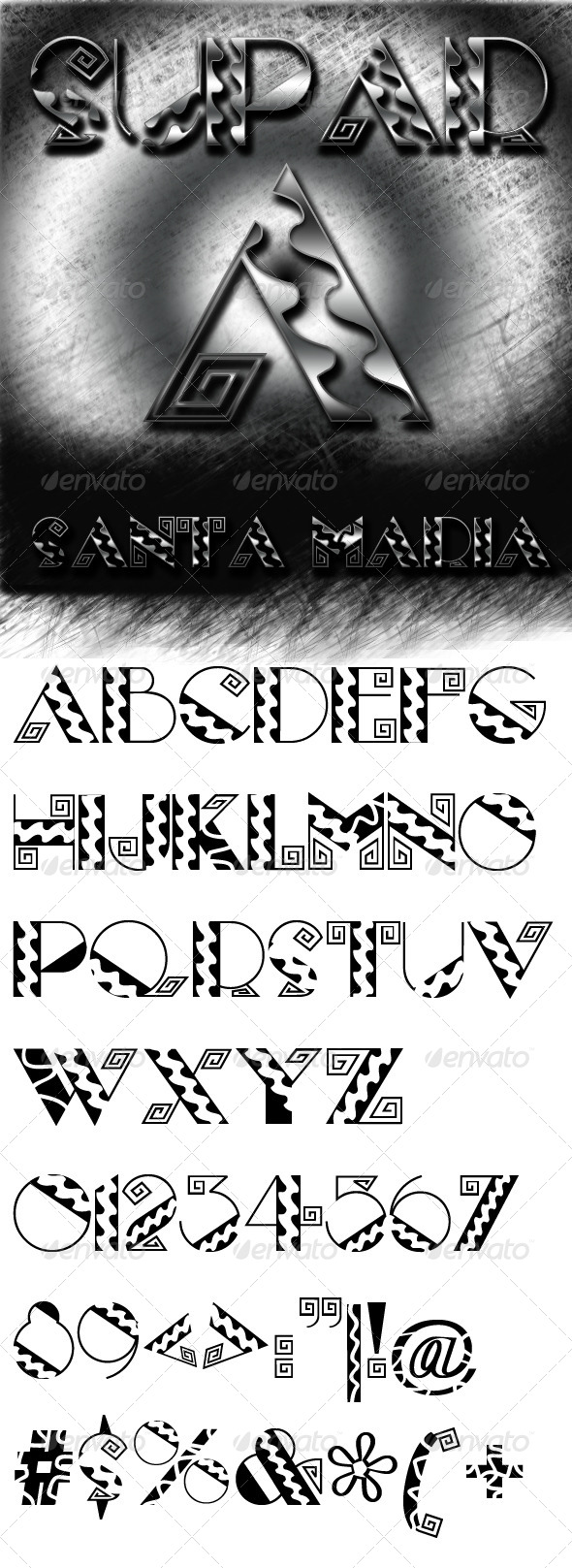 GraphicRiver Santa Maria font 7087385