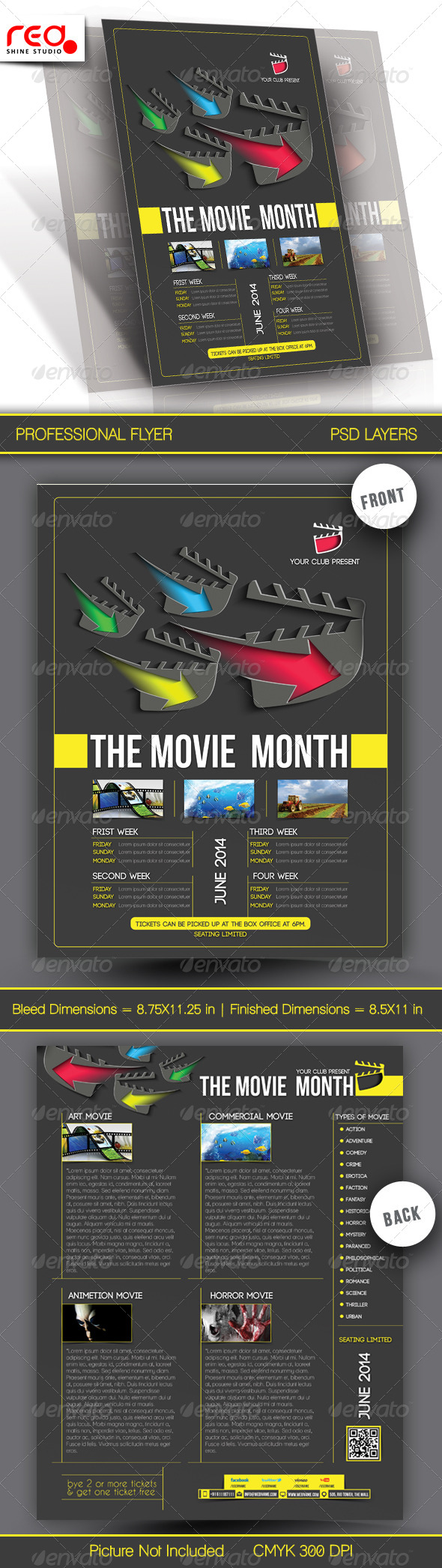 GraphicRiver The Movie Month Flyer Template 7089075