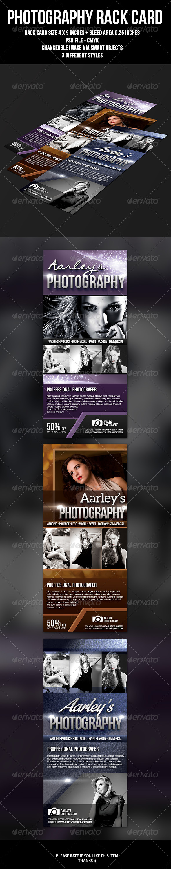 GraphicRiver Photography Rack Card 7089351