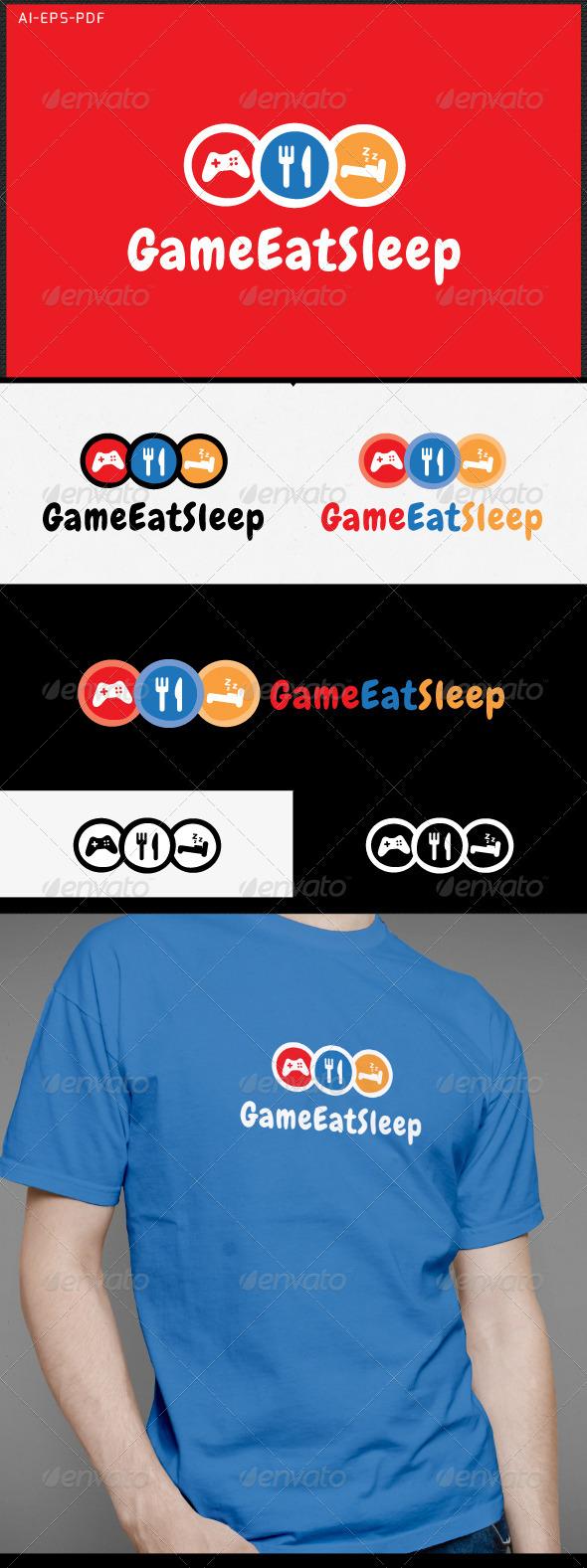 GraphicRiver Game Eat Sleep Gamer Logo 7090521