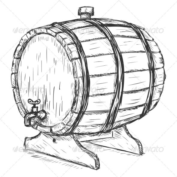 GraphicRiver Wooden Wine Barrel 7090523