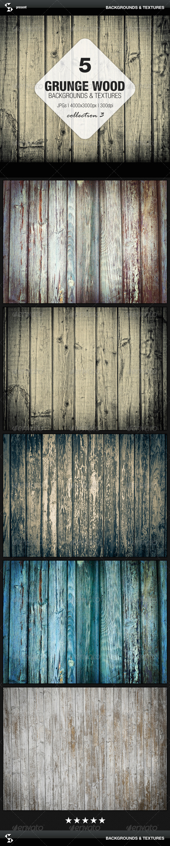 GraphicRiver Grunge Wood Backgrounds Collection 3 7091612