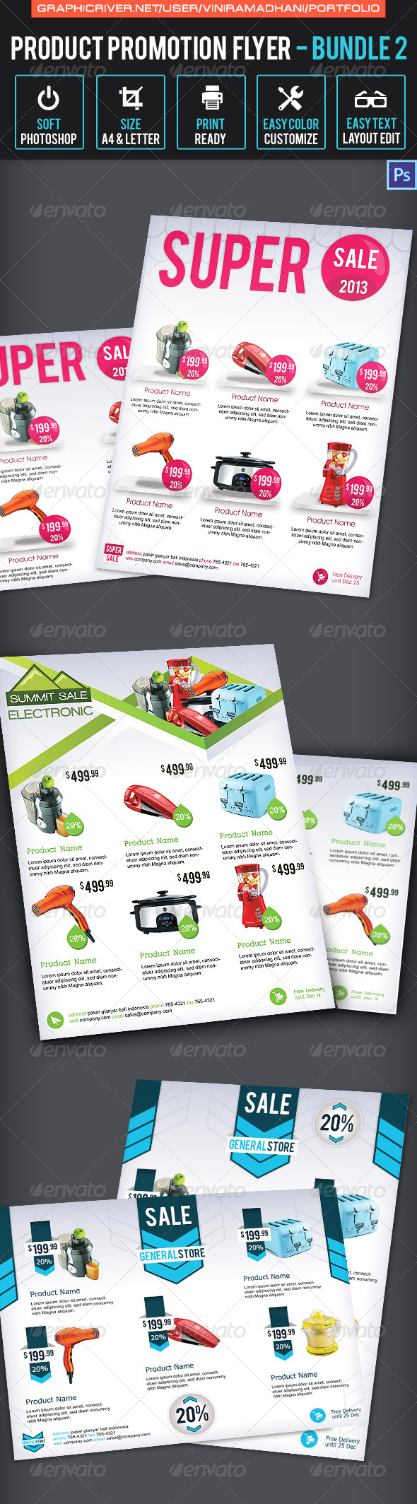GraphicRiver Product Promotion Flyer Bundle 2 7092230
