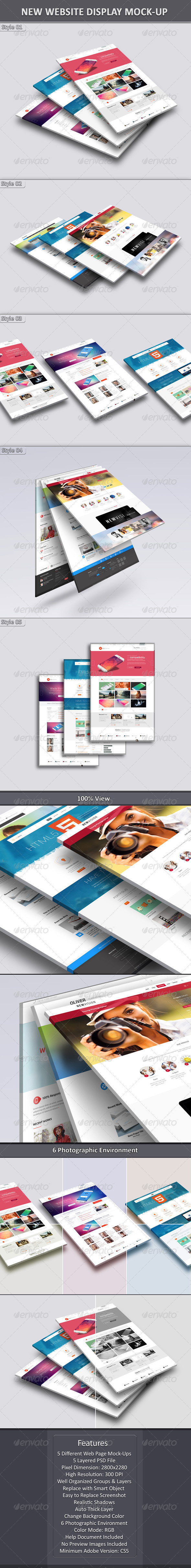 GraphicRiver New Website Display Mock-Up 7094191