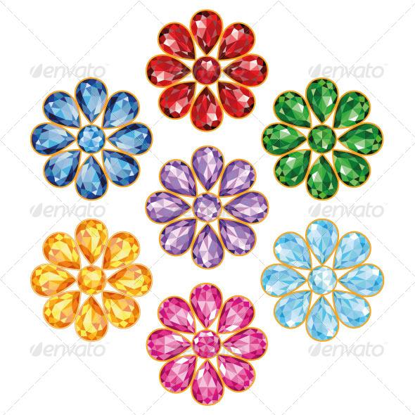 GraphicRiver Seven Flowers 7094494