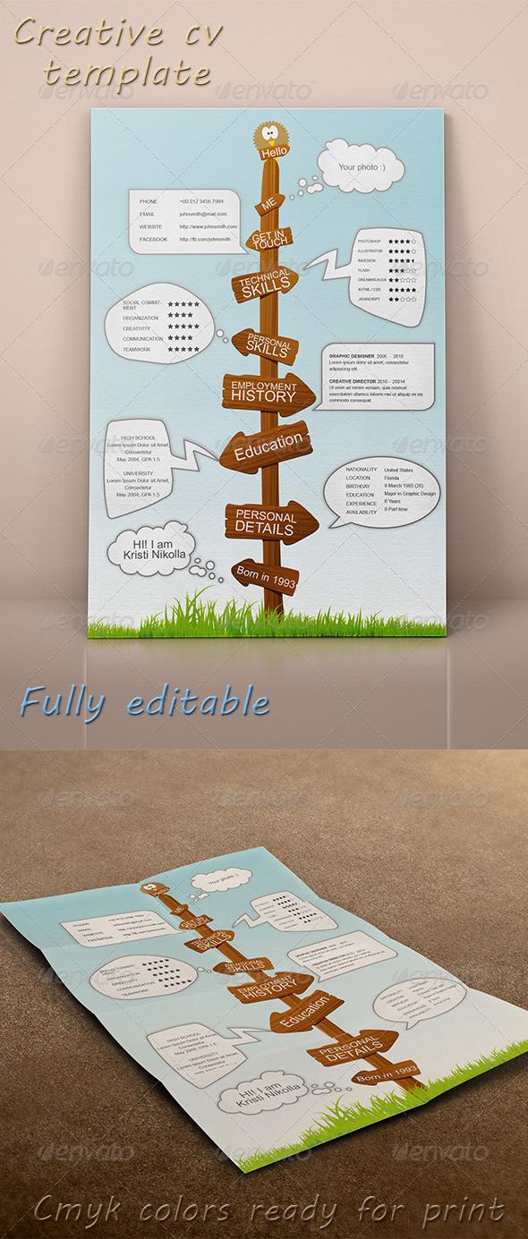 GraphicRiver Creative CV Template 7060542