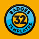 32 Badges / Logos - 7 Styles - Flat Design - GraphicRiver Item for Sale
