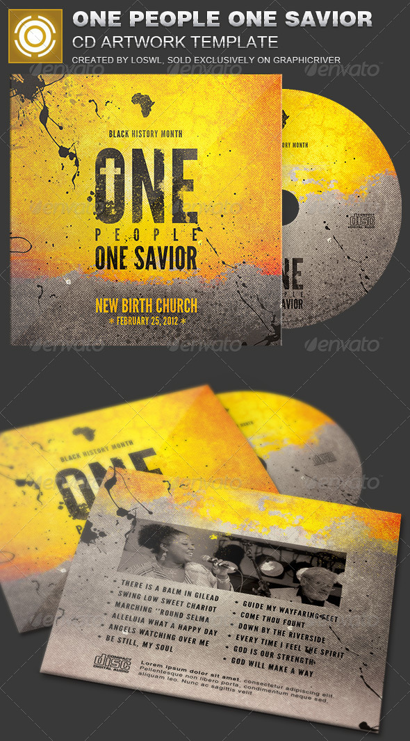 GraphicRiver One People One Savior CD Artwork Template 7095042