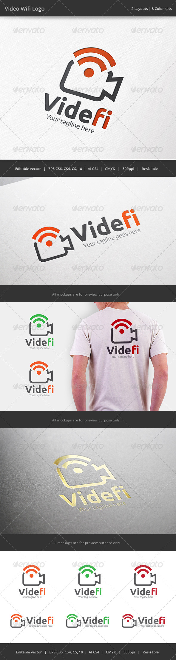 GraphicRiver Video Wifi Camera Logo 7095287