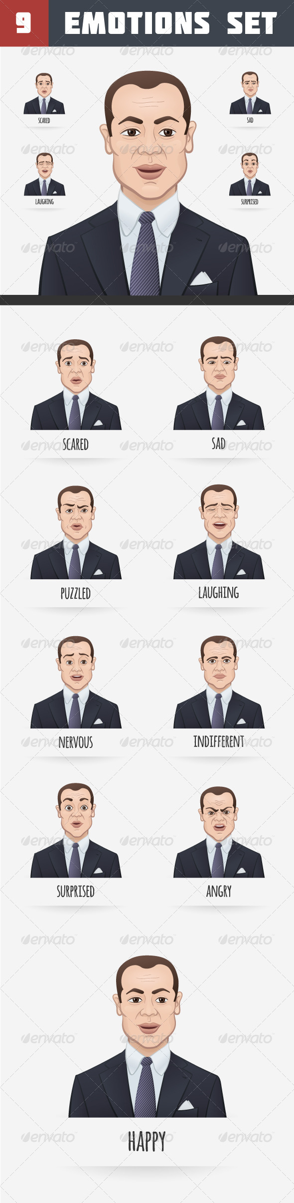 GraphicRiver Emotions of a Businessman 7096454