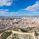 Alicante skyline aerial from Santa Barbara Castle Spain - PhotoDune Item for Sale