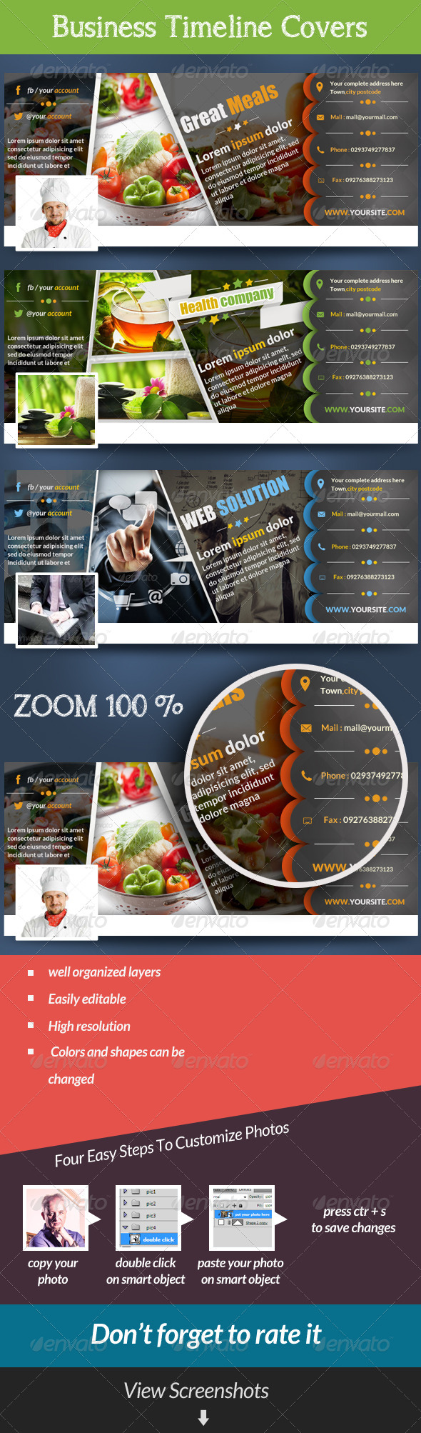 GraphicRiver Business Facebook Covers Multipurpose 7097527
