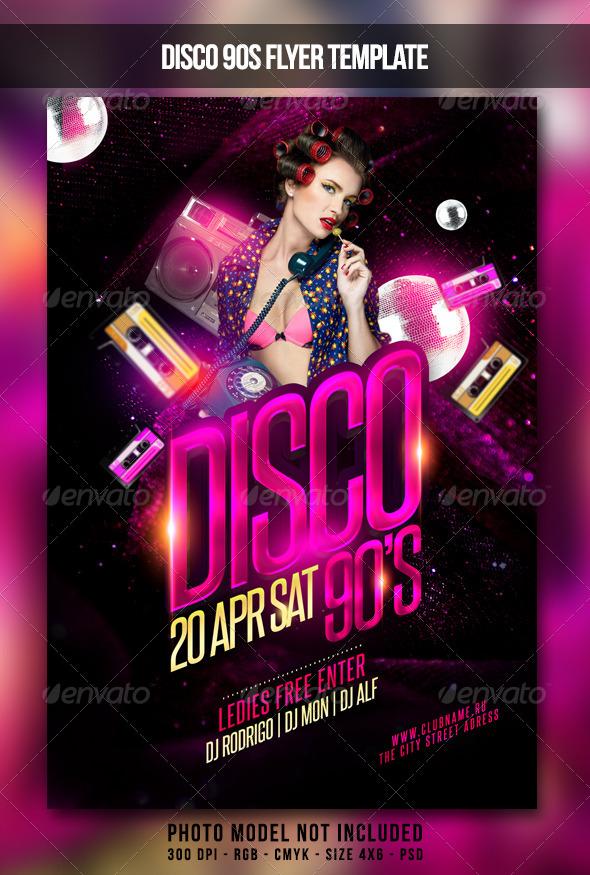 GraphicRiver Disco 90S Flyer 7097544