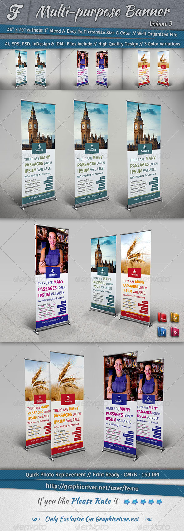 GraphicRiver Multi-purpose Banner Volume 3 7098003
