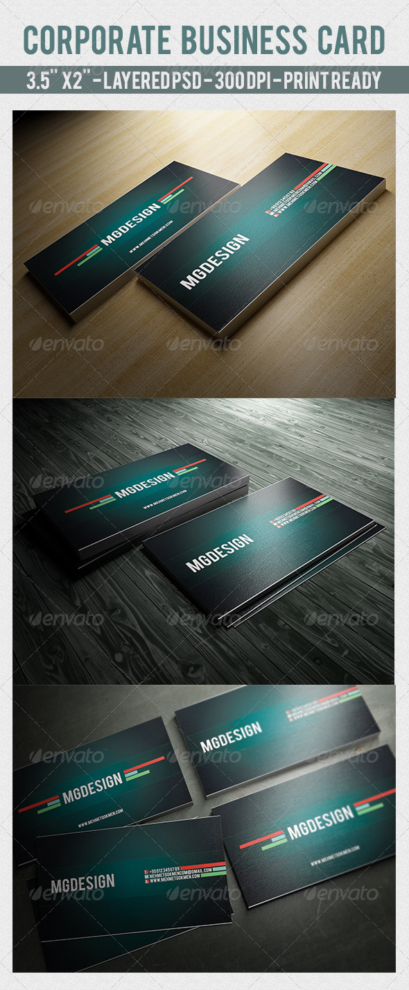 GraphicRiver Corporate Business Card 7098227