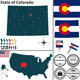 Map of State Colorado, USA - GraphicRiver Item for Sale