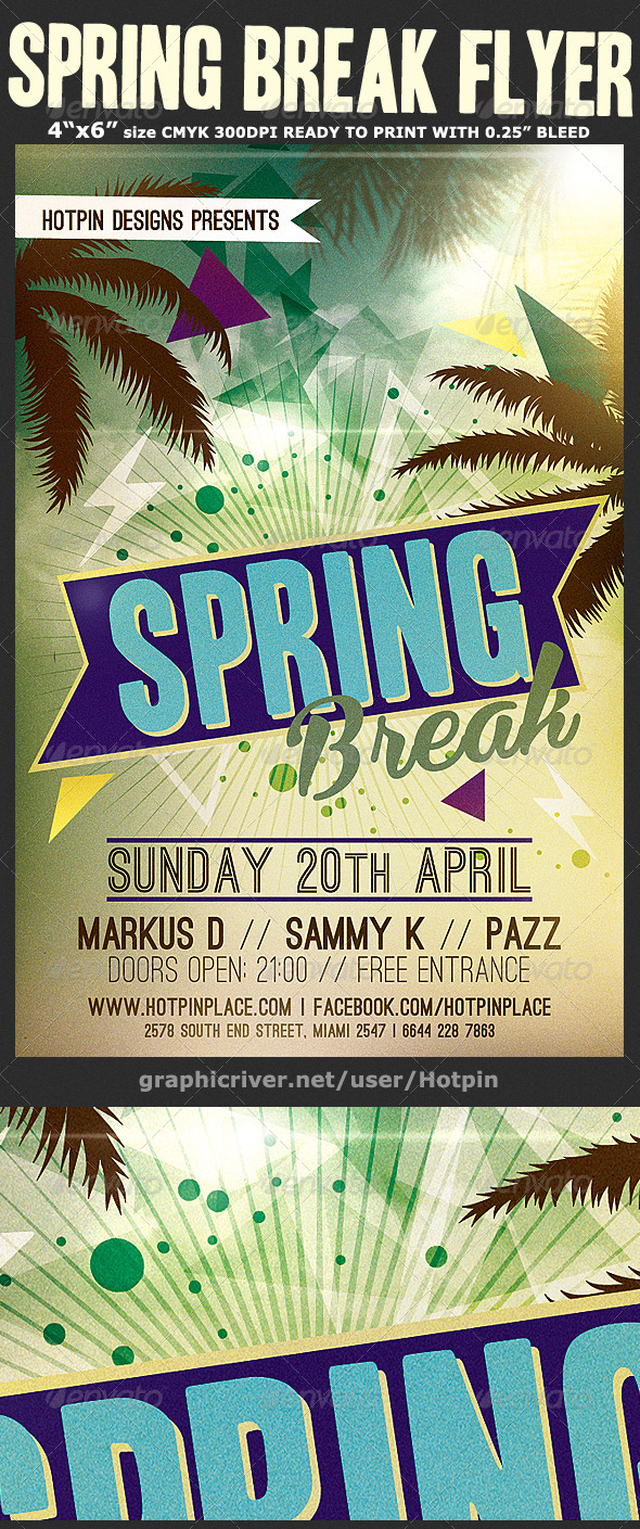 GraphicRiver Spring Break Flyer Template v3 7098303