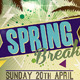 Spring Break Flyer Template v3 - GraphicRiver Item for Sale