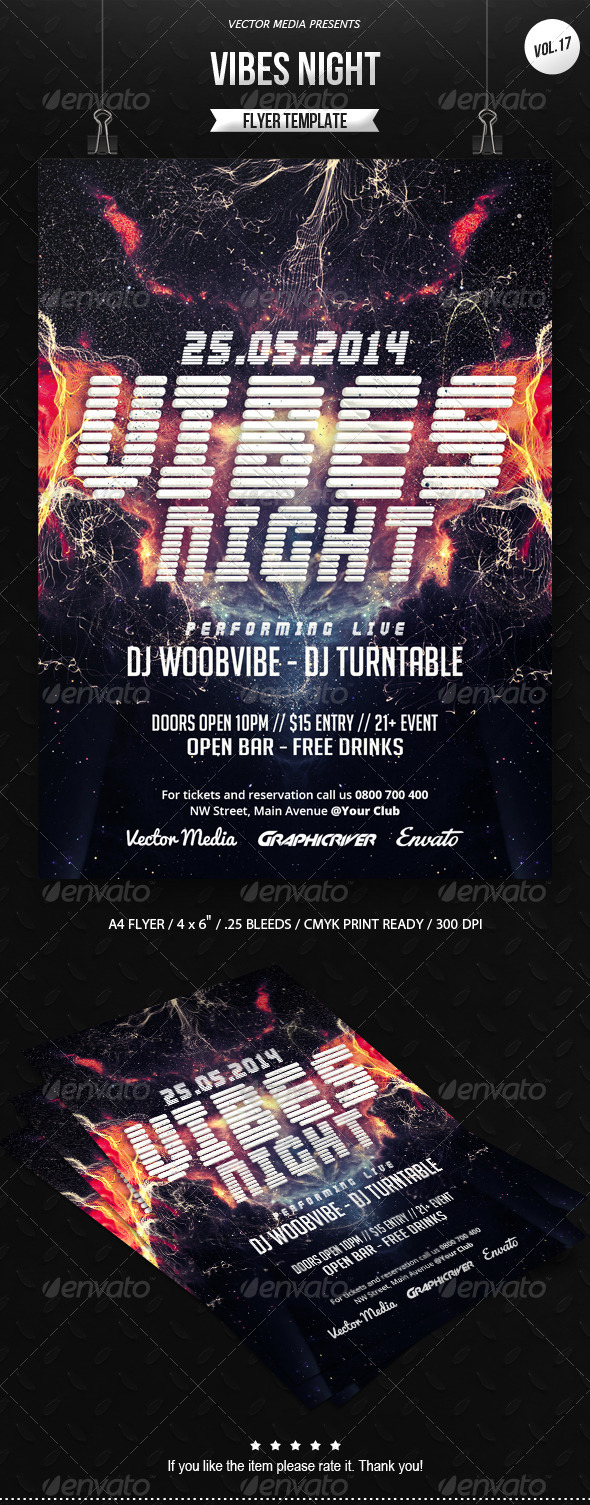 GraphicRiver Vibes Night Flyer [Vol.17] 7098773