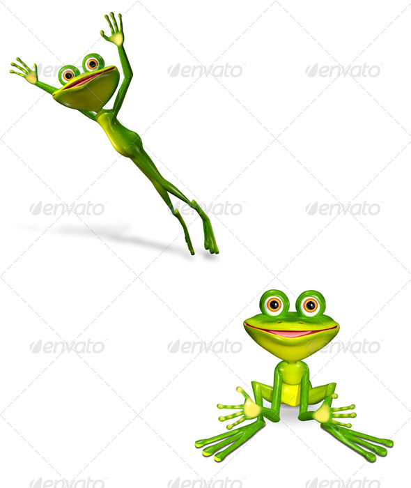 GraphicRiver Green Frog 7098876