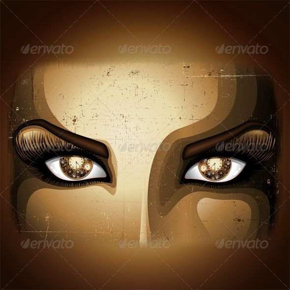 GraphicRiver Steampunk Girl Eyes 7099070