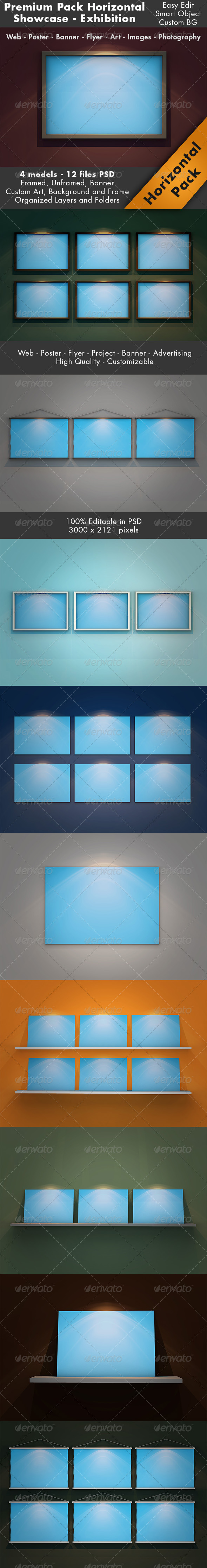 GraphicRiver Horizontal Showcase Mockup Pack 7099091