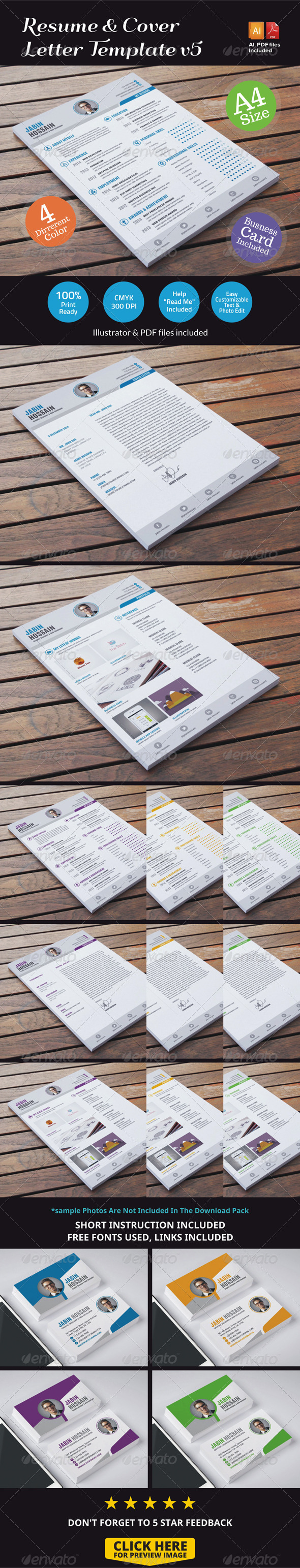 GraphicRiver Resume & Cover Letter Template v5 7099134