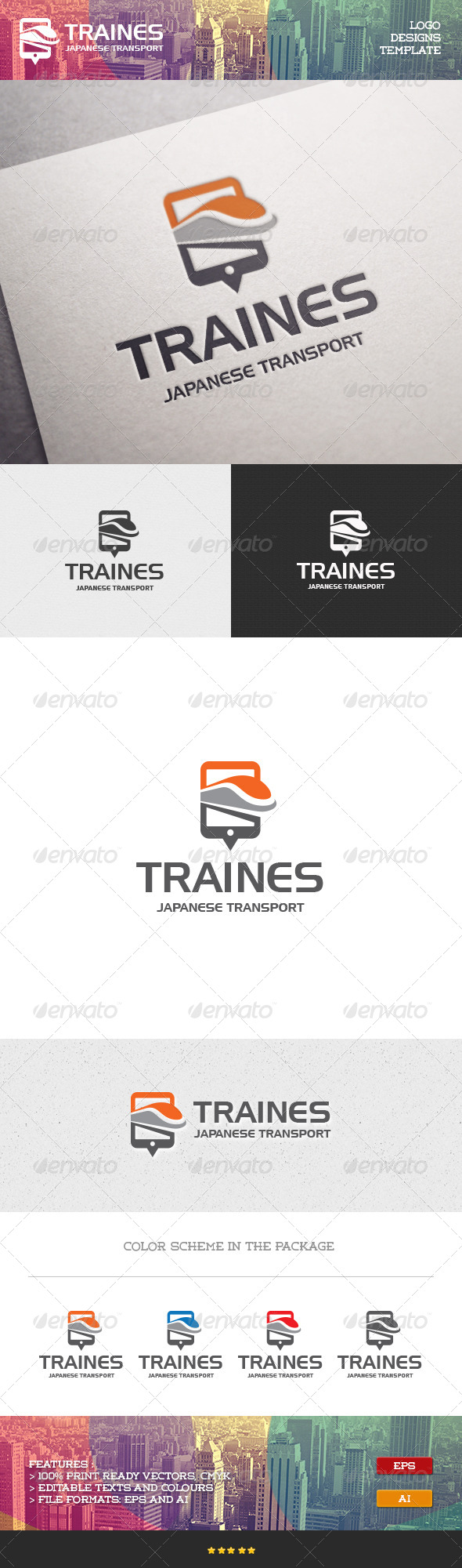 GraphicRiver Traines Logo 7099428