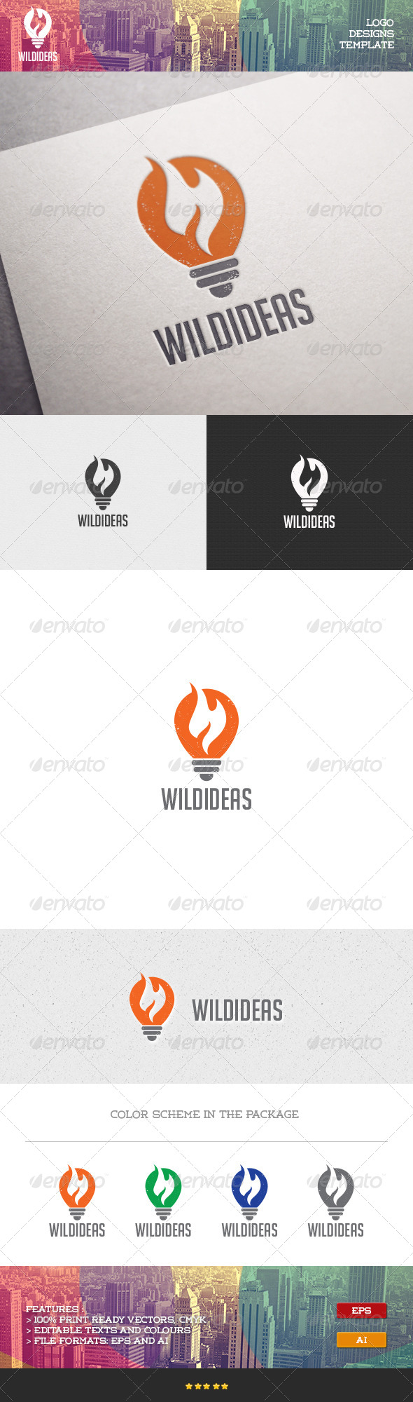 GraphicRiver Wild Idea Logo 7100226