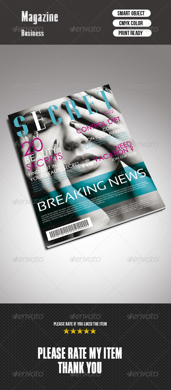 GraphicRiver Beauty Magazine Cover 7101018