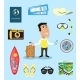 Vacation or Business Traveler Character Set - GraphicRiver Item for Sale