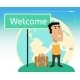Vacation or Business Traveler Character - GraphicRiver Item for Sale