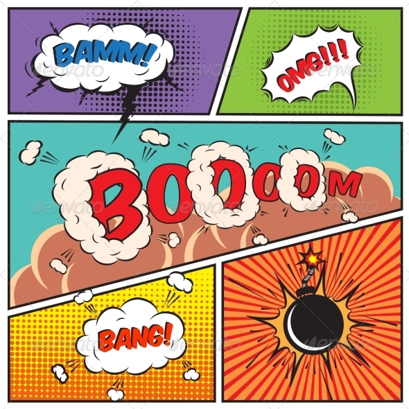 GraphicRiver Comic Speech Bubbles 7102894