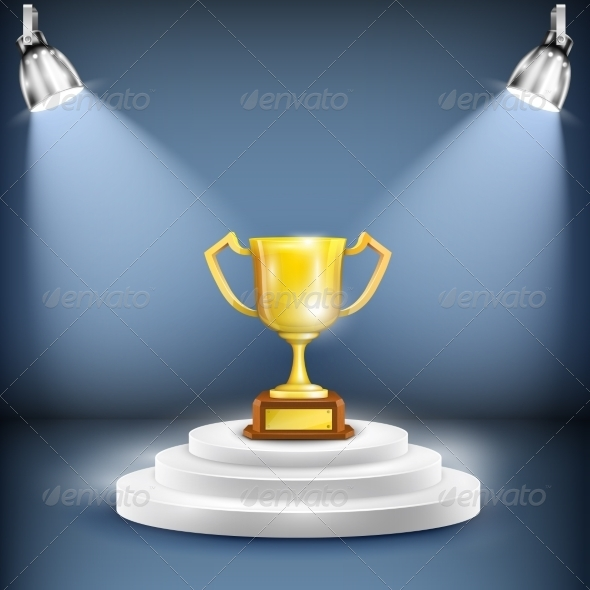 GraphicRiver Shiny Podium With Trophy Cup 7103096