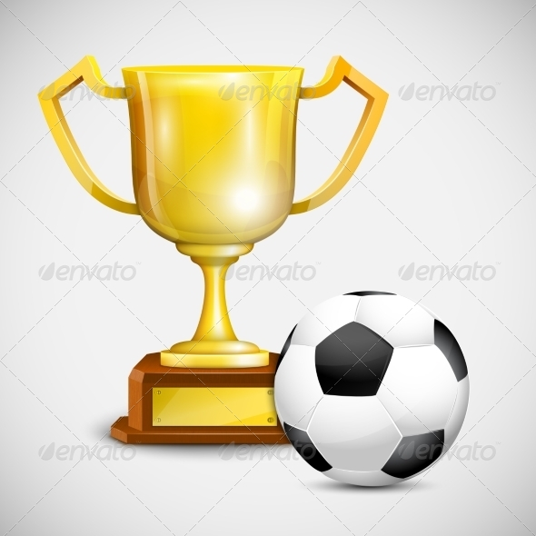 GraphicRiver Gold Cup With Soccer Ball 7103116