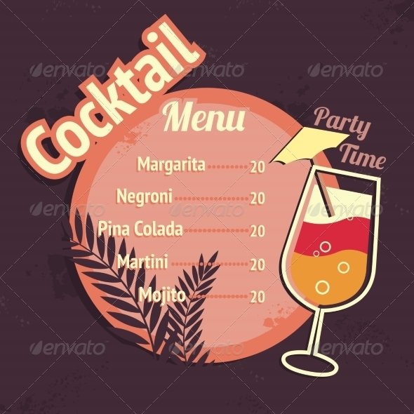 GraphicRiver Cocktail Drinks 7103155