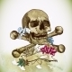 Skull and Flowers Vector Illustration - GraphicRiver Item for Sale