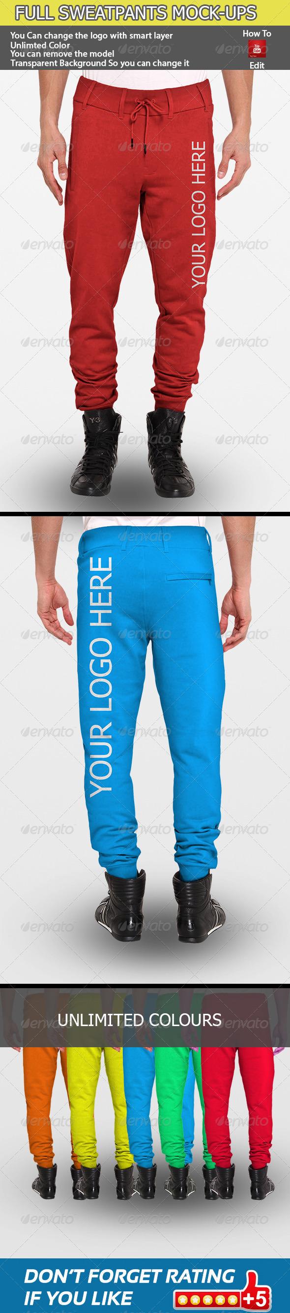GraphicRiver Full Sweatpants Mock-Ups 7103272