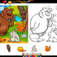 wild animals coloring page set - PhotoDune Item for Sale