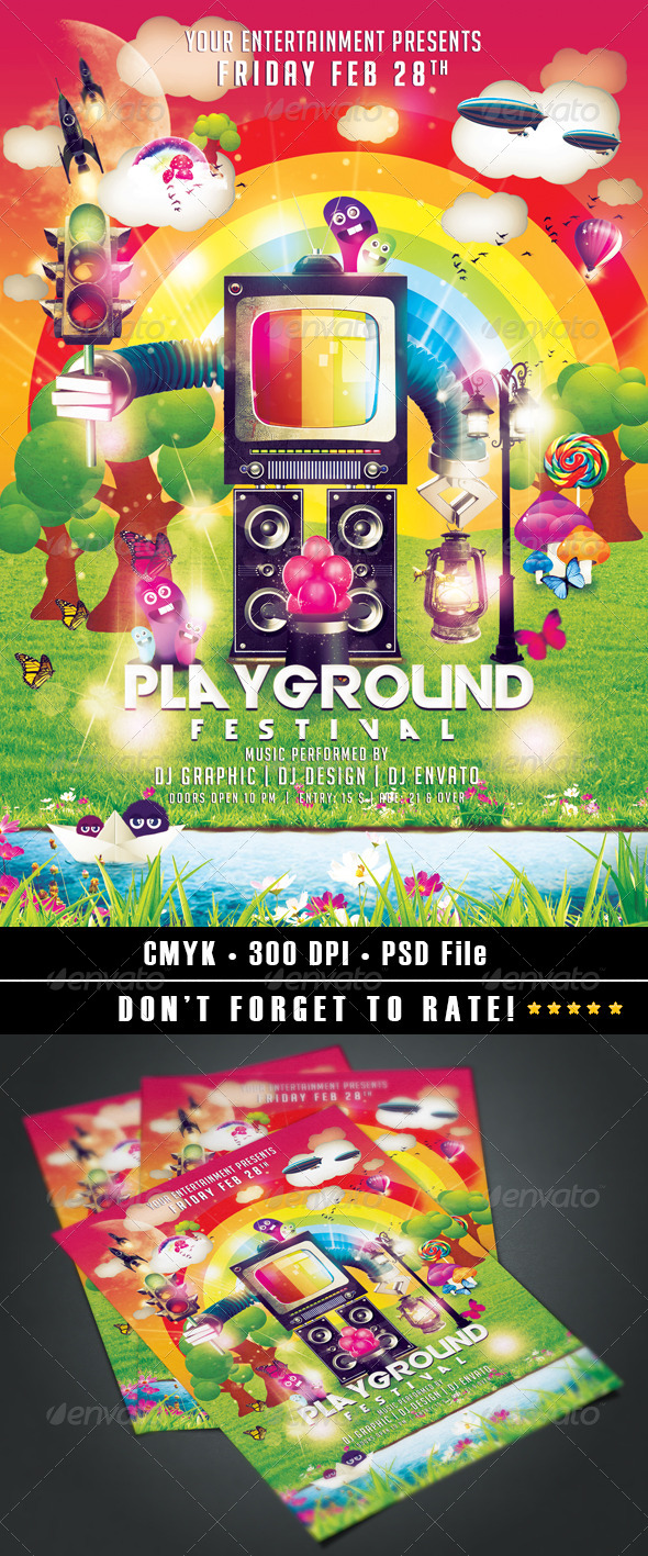 GraphicRiver Playground Festival 7103392
