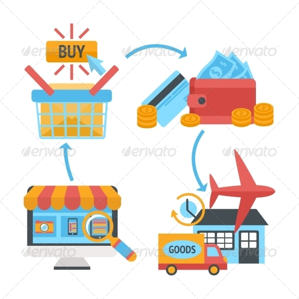GraphicRiver Shopping Icons 7103463