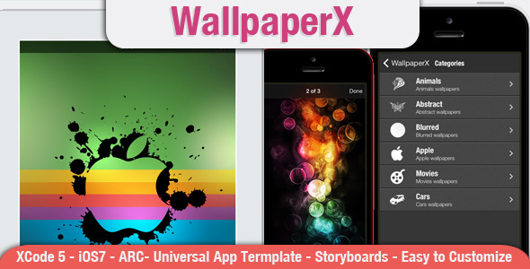 CodeCanyon WallpaperX Full App Template for wallpapers 7103537